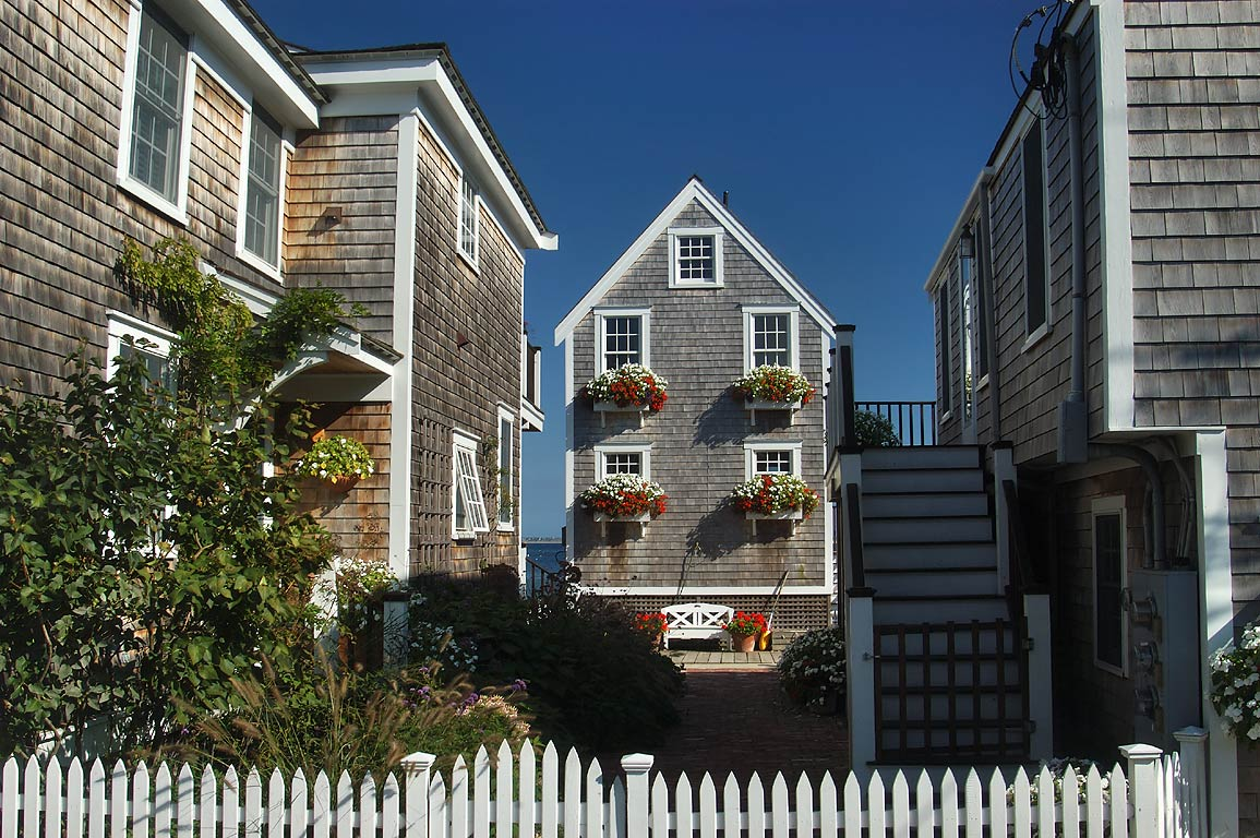 Commercial St. in West End of Provincetown. Cape Cod, Massachusetts