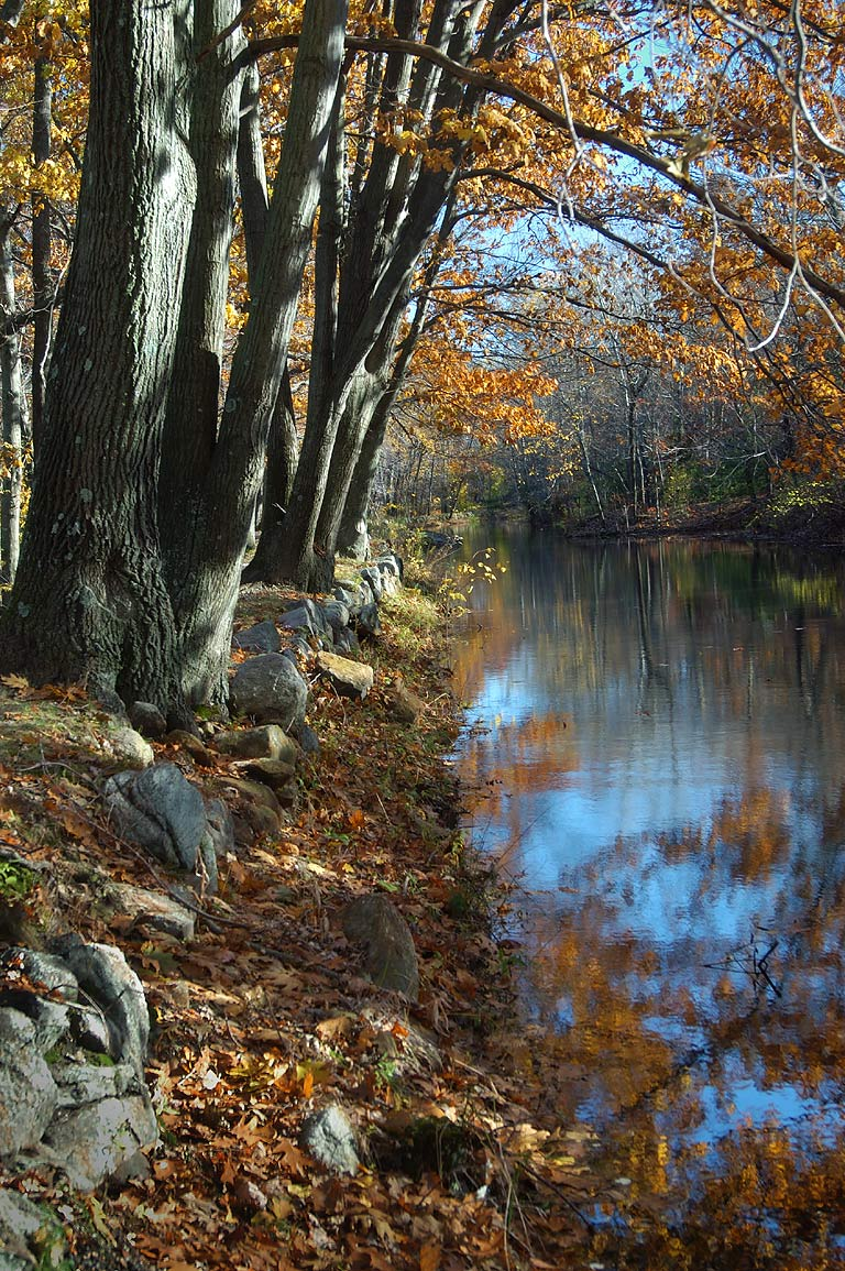 Blackstone Canal south-east from Visitors Center...State Park. Uxbridge, Massachusetts