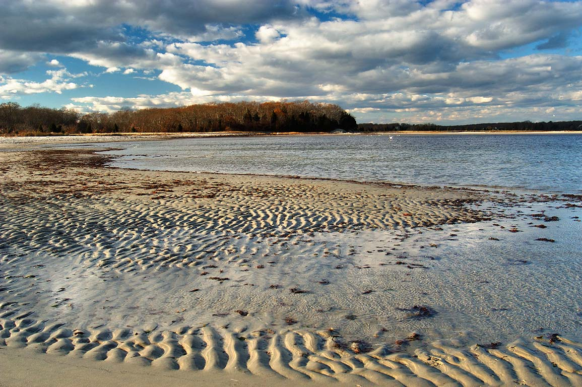 Beach sand ripples at Deepwater Pt. in Demarest...at low tide. Dartmouth, Massachusetts