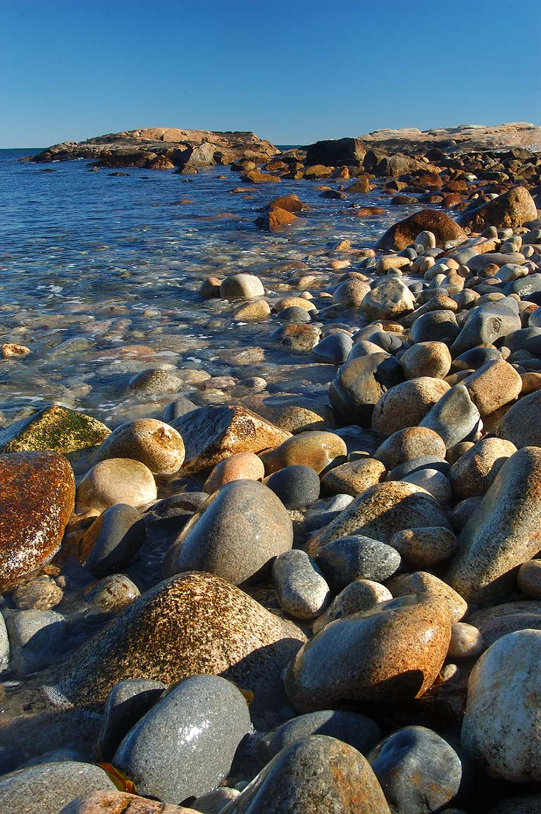 Rocky beach in Black Point. Narragansett, Rhode Island