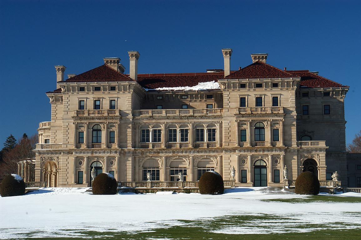 The Breakers Mansion in Newport. Rhode Island