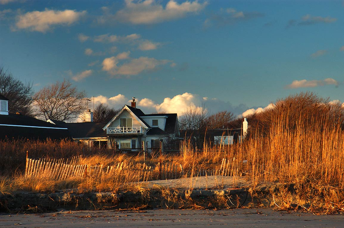 A summer house at Atlantic Ave., view from Bailey Beach. Newport, Rhode Island