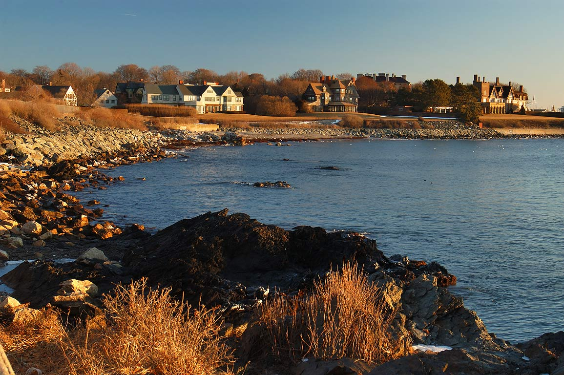 Midcliff, Fairhaven and Angelsea mansions near...at Sheep Point. Newport, Rhode Island