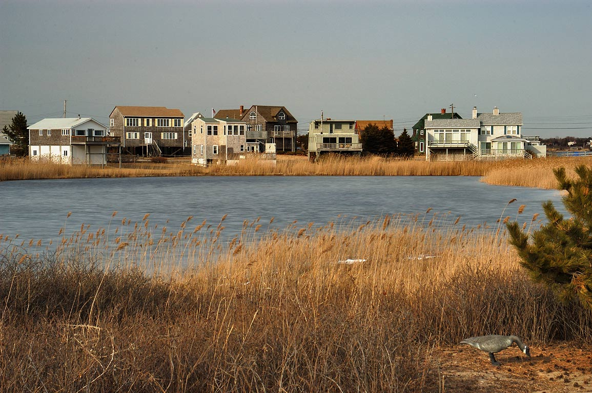 A small pond at Matunuck Point, with a fake...corner). South Kingstown, Rhode Island
