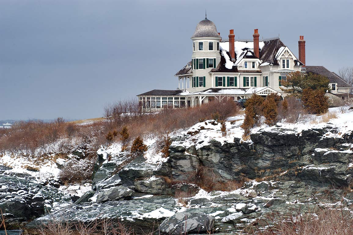 Castle Hill Inn after snowfall. Newport, Rhode Island