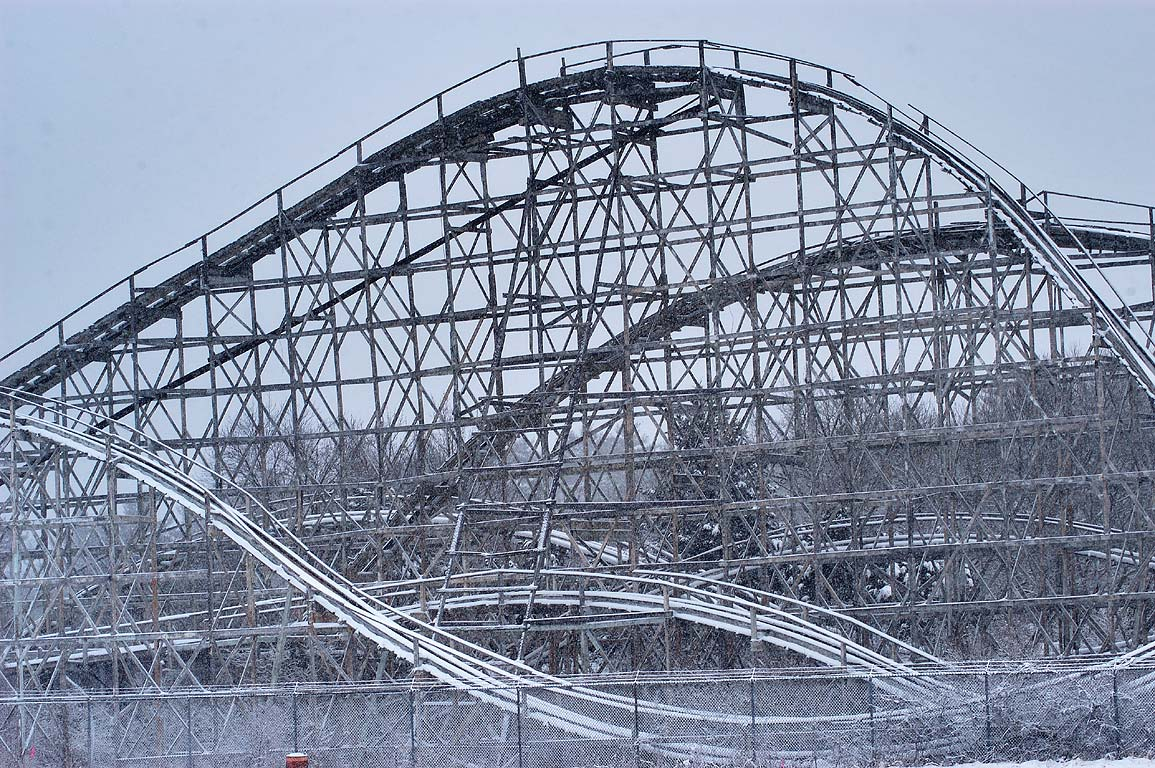 Ruins of Comet roller coaster (1946) in Lincoln...Beeden Rd.. Dartmouth, Massachusetts