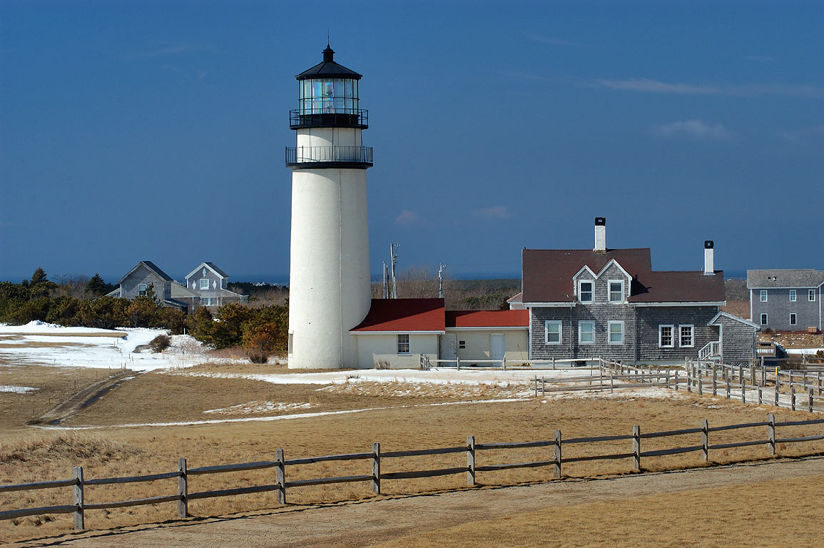 Highland (Cape Cod) Lighthouse and a golf course. North Truro, Massachusetts