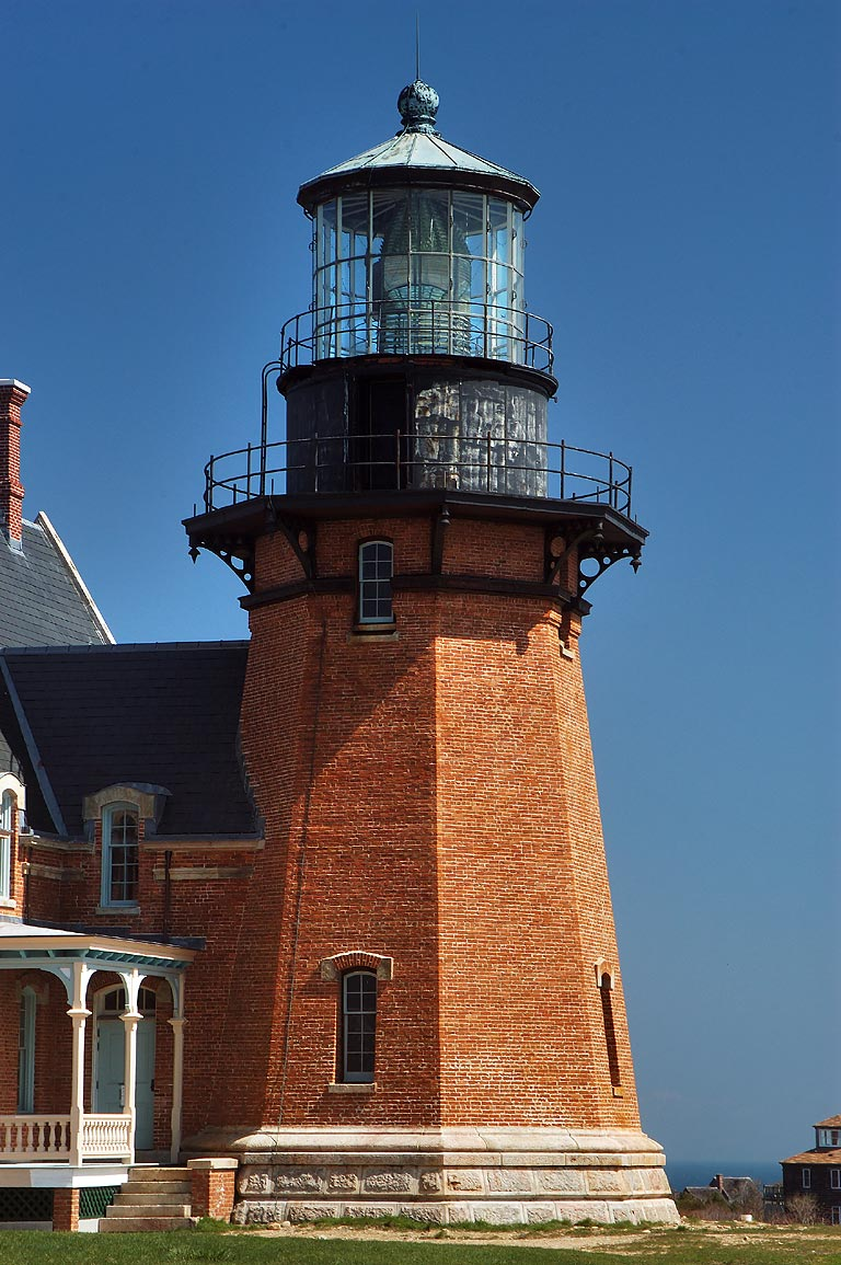 Southeast Lighthouse in Block Island, zoomed. New Shoreham, Rhode Island