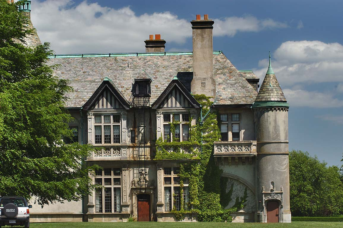 Carey Mansion of Salve Regina University, west side. Newport, Rhode Island
