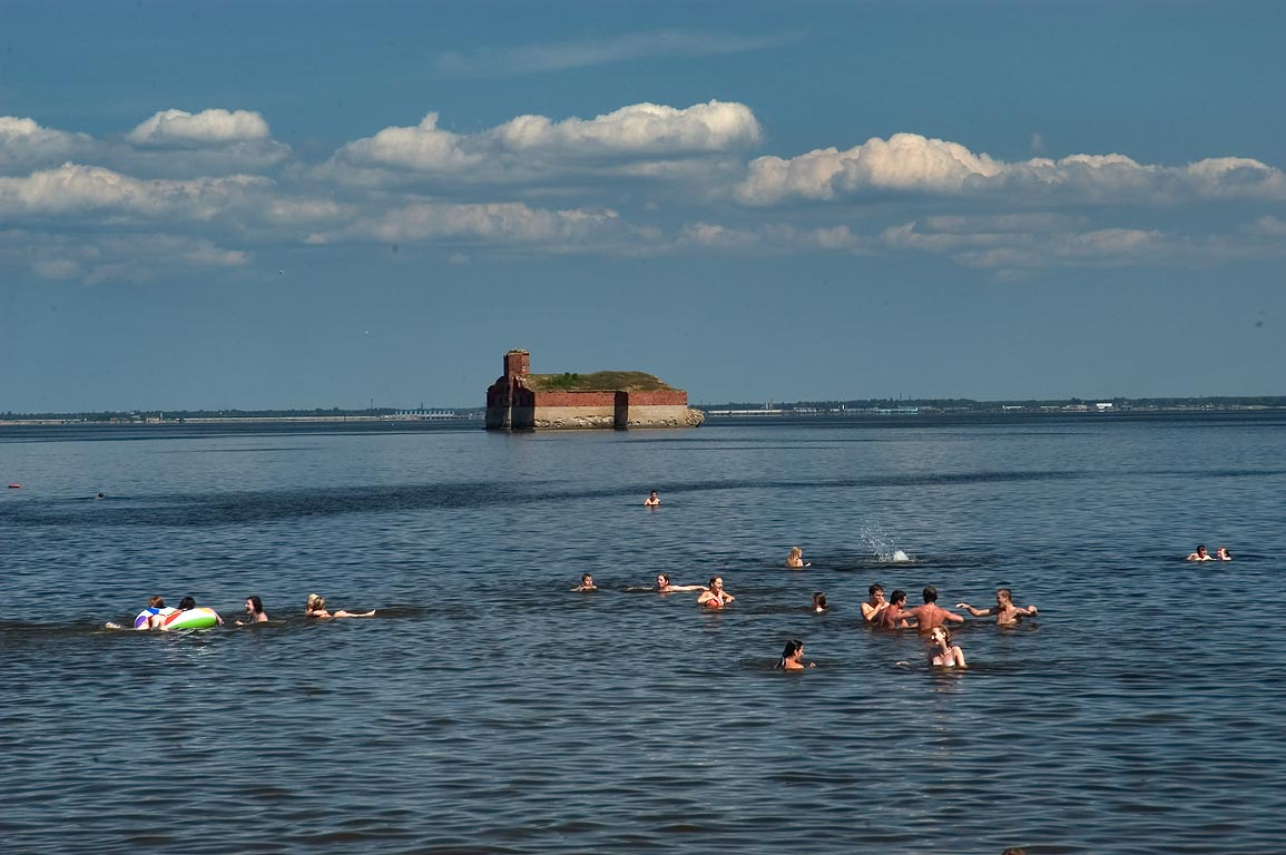 City beach and marine powder bunker, later...in Kronstadt. St.Petersburg, Russia