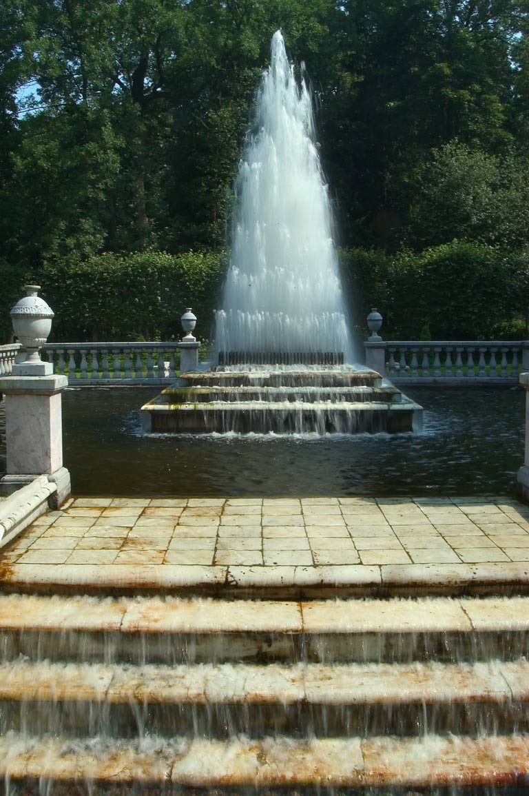 Pyramid Fountain in Peterhof, suburb of St.Petersburg. Russia