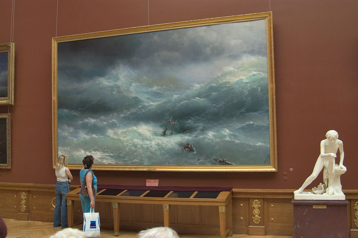 Ayvazovsky painting in Russian Museum. St.Petersburg, Russia