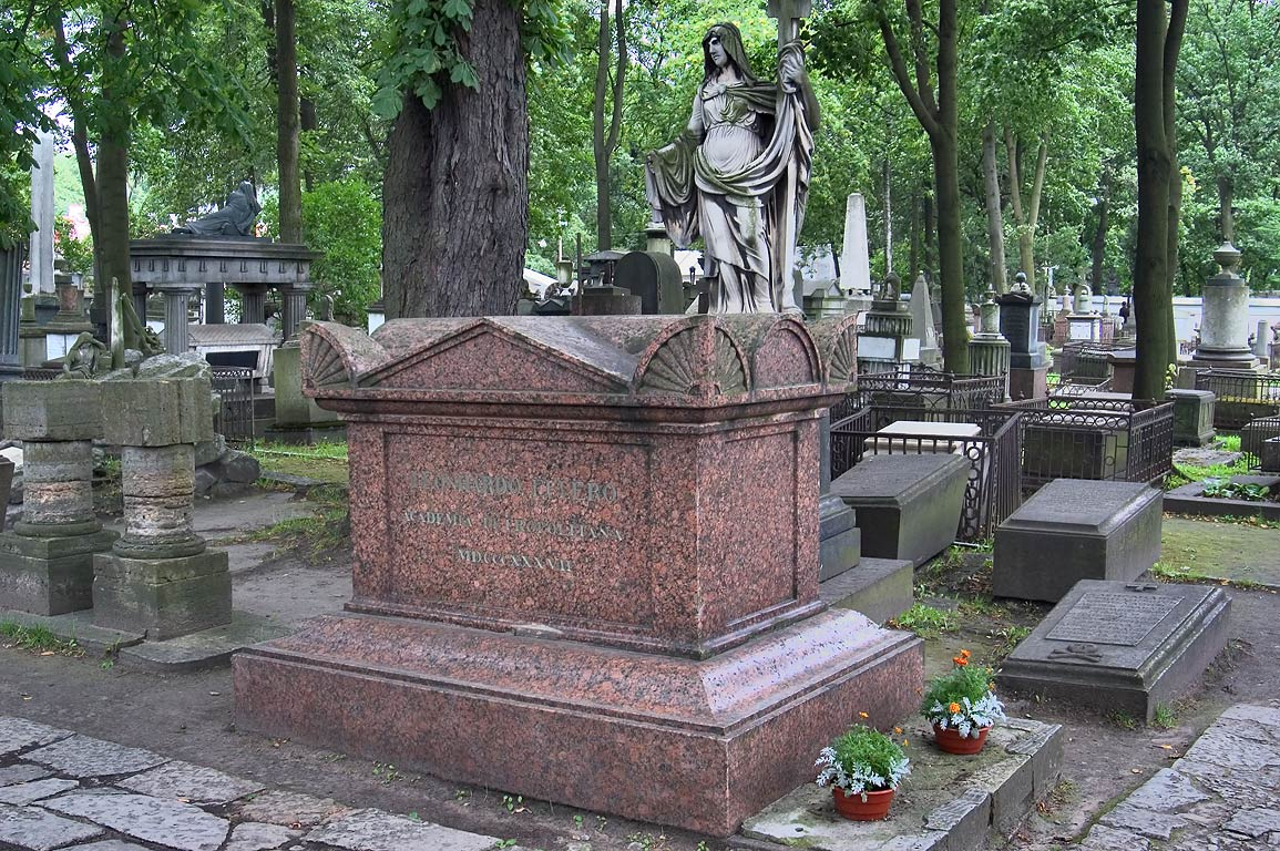 A tomb of a mathematician Leonhard Euler (1707...Cemetery). St.Petersburg, Russia