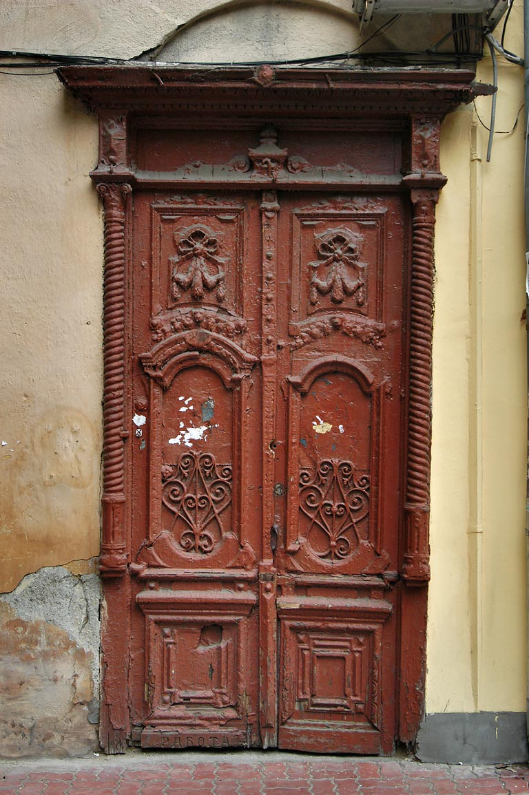 A doorway on Pushkinskaya Street. Odessa, Ukraine