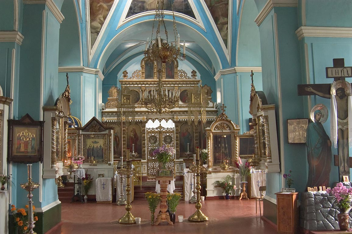 Interior of the Rozhdestveno Church, 50 miles south from St.Petersburg. Russia