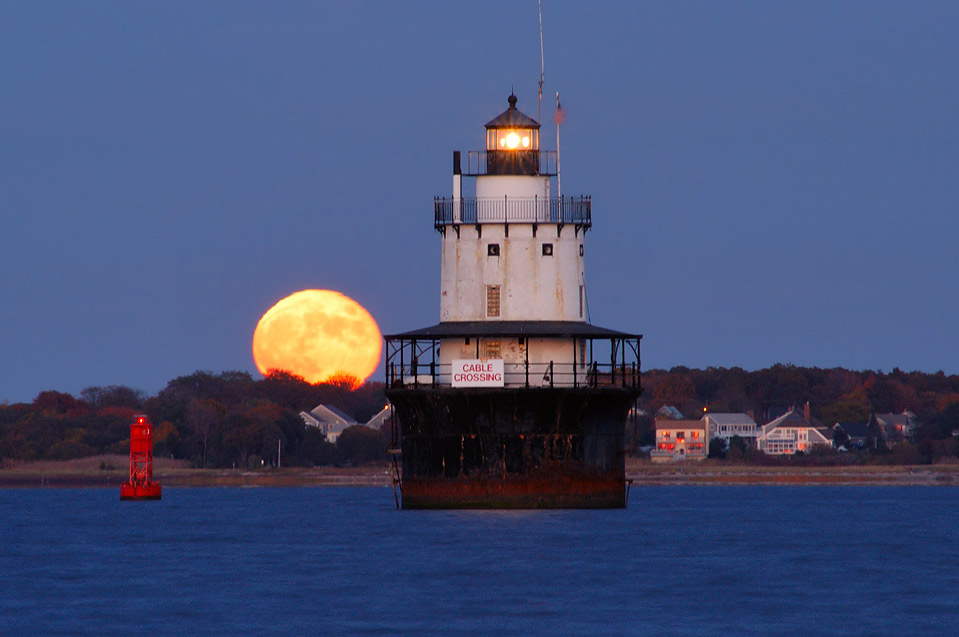 Butler Flats Lighthouse in Buzzards Bay at...Blvd.. New Bedford, Massachusetts