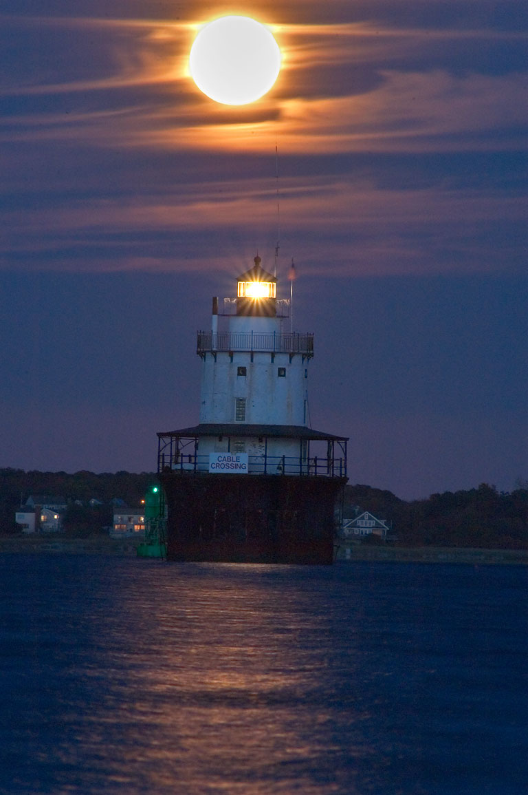 Butler Flats Lighthouse in Buzzards Bay after...Blvd.. New Bedford, Massachusetts