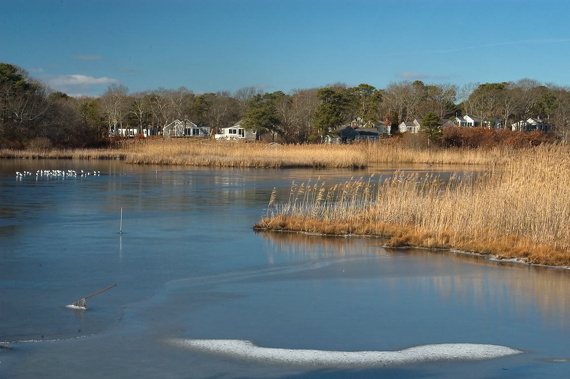 Centerville River near Craigville Beach in Cape Cod. Hyannis, Massachusetts