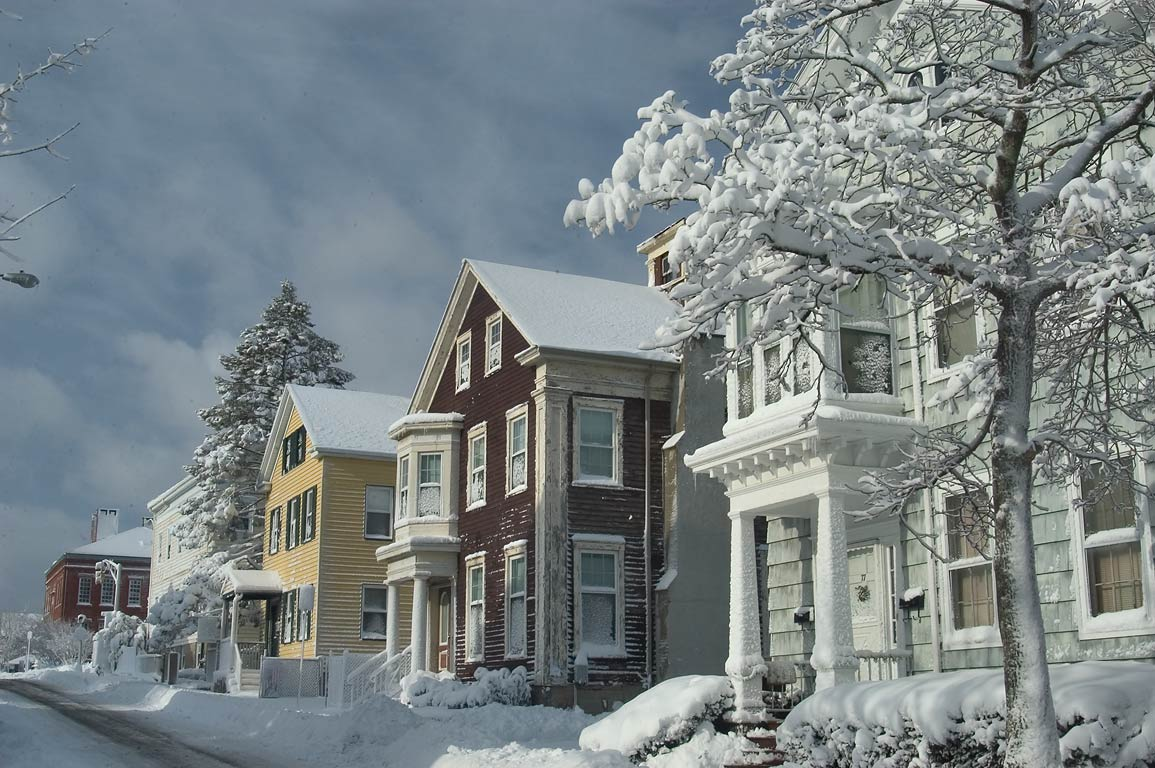 North St. after snowfall. New Bedford, Massachusetts