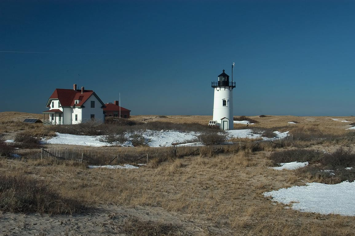 Race Point Lighthouse in Cape Cod. Provincetown, Massachusetts
