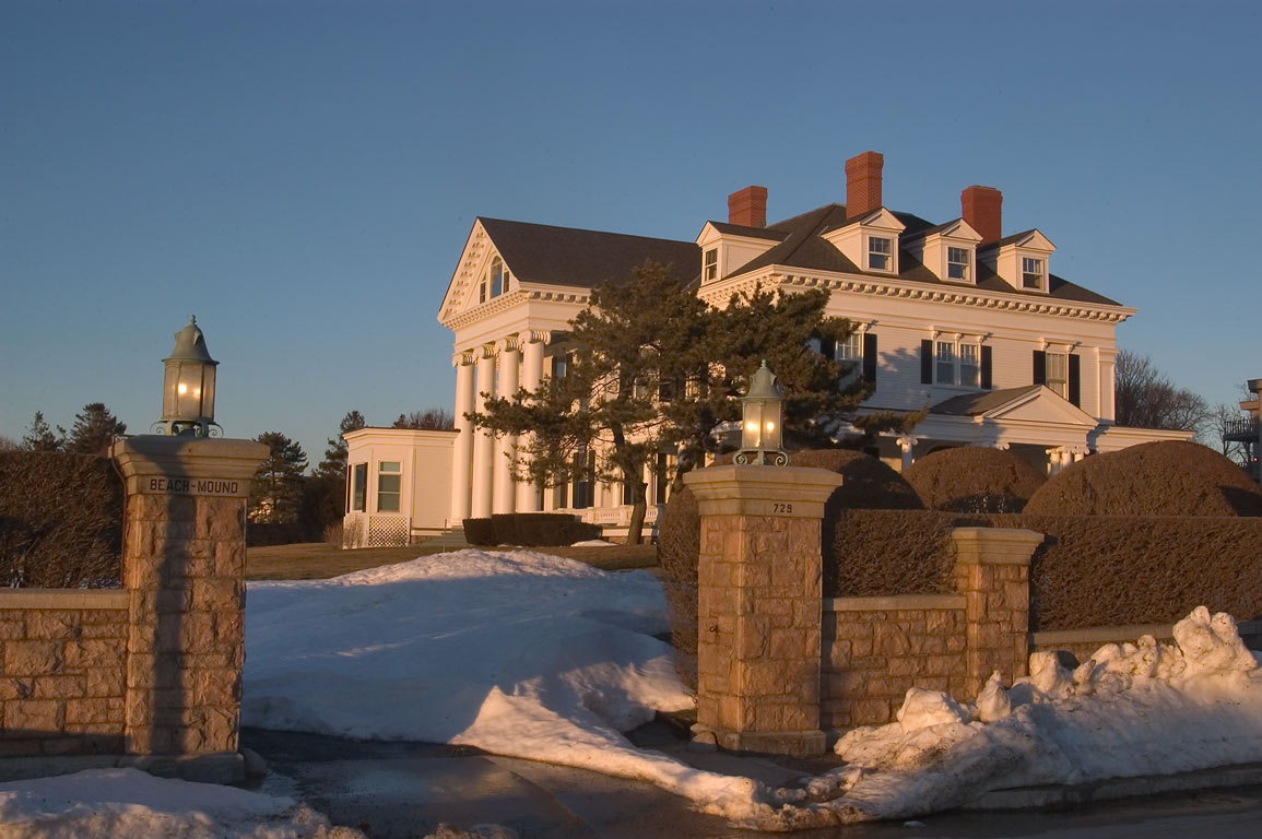 Beach Mound Mansion at southern end of Bellevue Ave. in Newport. Rhode Island