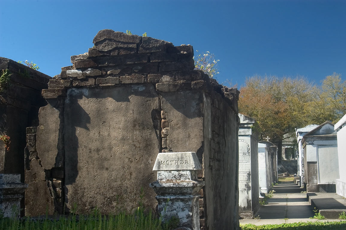 A tomb of Lafayette Cemetery. New Orleans, Louisiana