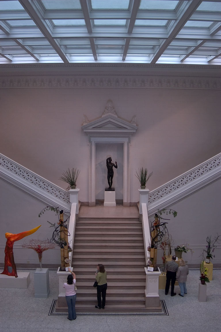 Entrance stairs of Museum of Art (NOMA). New Orleans, Louisiana