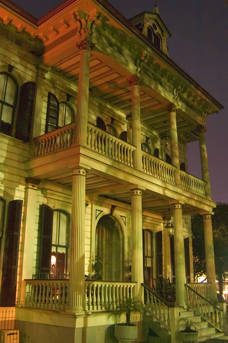 John R. Rouse-Harp-Mitchell-Kirkpatrick House at...St. at evening. New Orleans, Louisiana