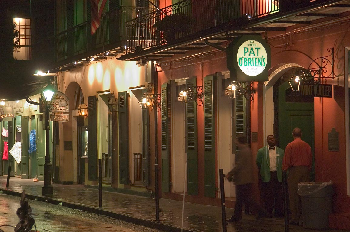 St.Peter Street in French Quarter at evening. New Orleans, Louisiana