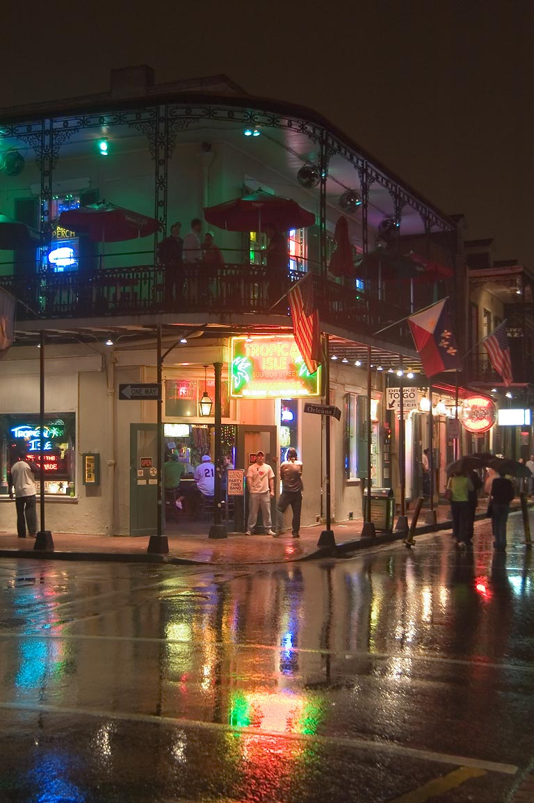 A corner of Bourbon and Orleans St.. New Orleans, Louisiana