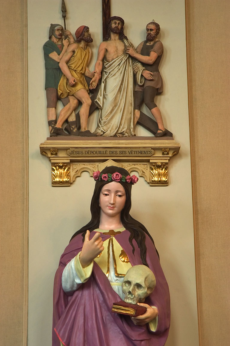 A statue in St.Mary's Church in Old Ursuline Convent. New Orleans, Louisiana