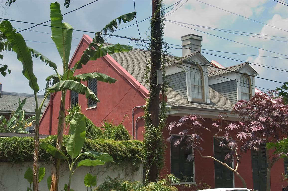 Creole cottage with banana at 712 1/2 Spain St...Jacquet). New Orleans, Louisiana