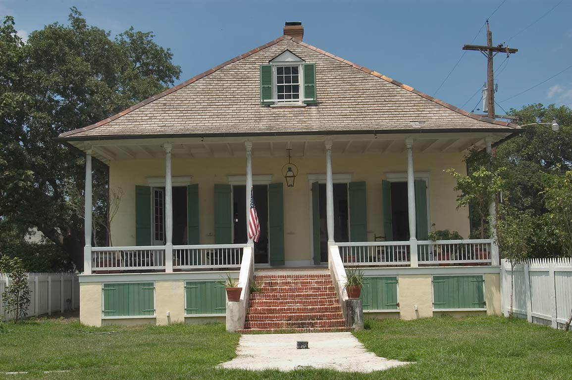 Lombard House (1826) at North Peters St. in Bywater. New Orleans, Louisiana