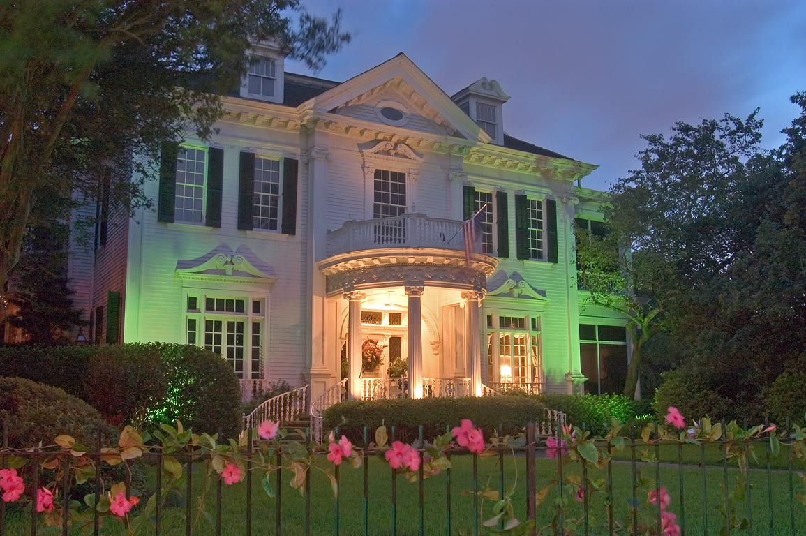 The Castles House (1896) at 6000 St.Charles Ave...St. at evening. New Orleans, Louisiana