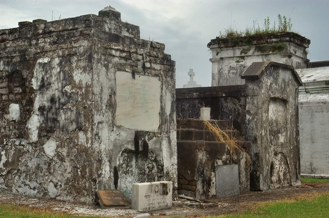 Old tombs in St.Louis Cemetery No. 2. New Orleans, Louisiana