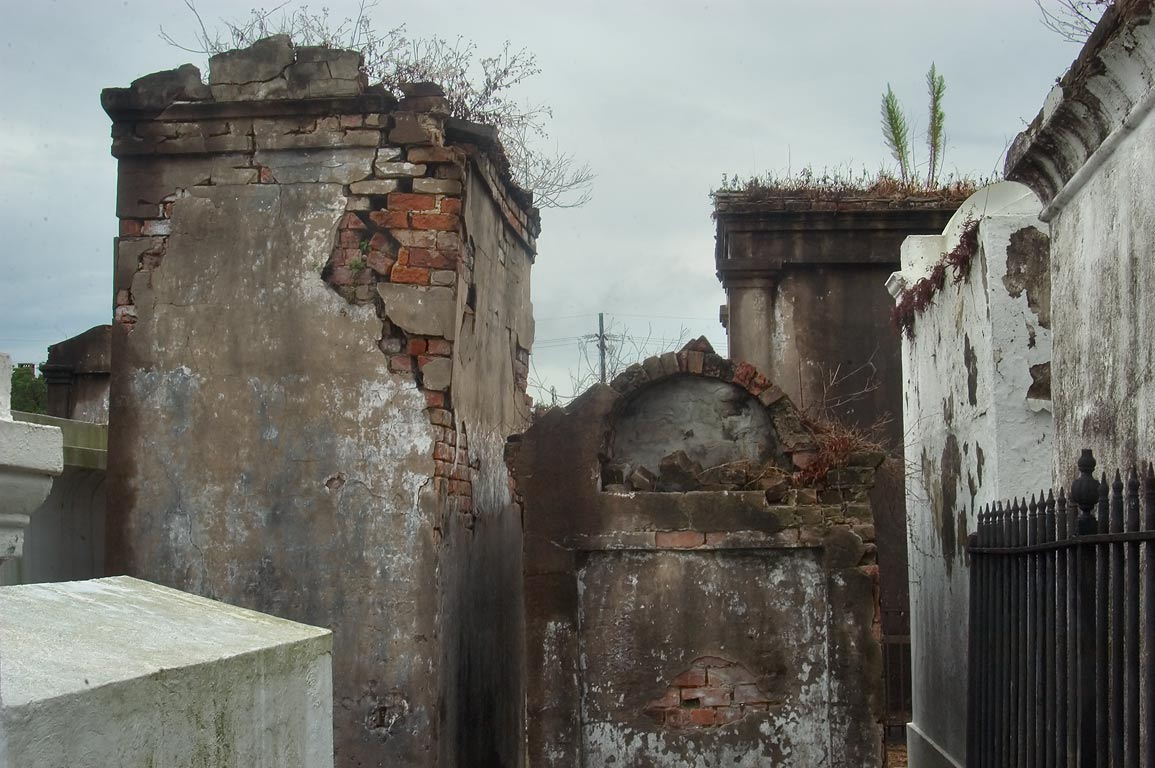 Crumbling tombs of St.Louis Cemetery No. 2. New Orleans, Louisiana