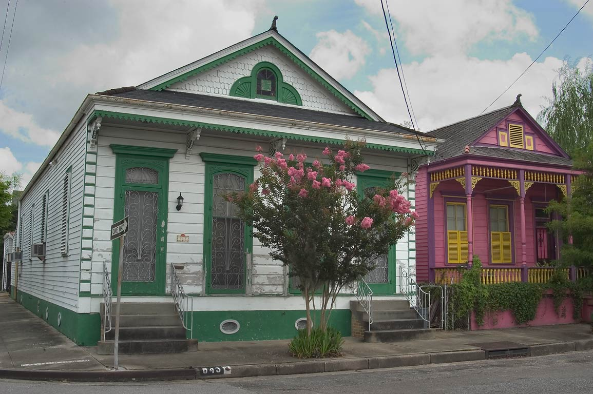 843 Bartholomew St. at a corner of Burgundy St. in Bywater. New Orleans, Louisiana