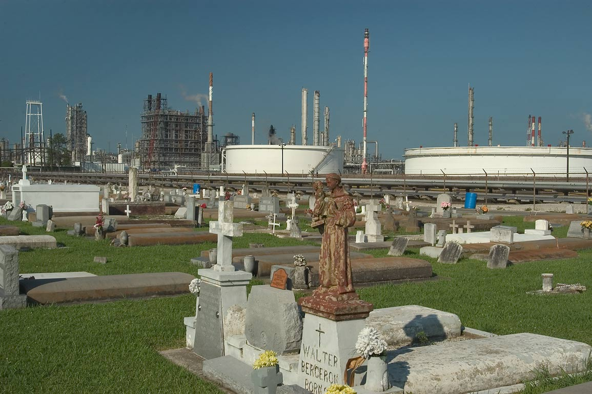 Holy Rosary Cemetery of an old African American...Chemical and Union Carbide plants