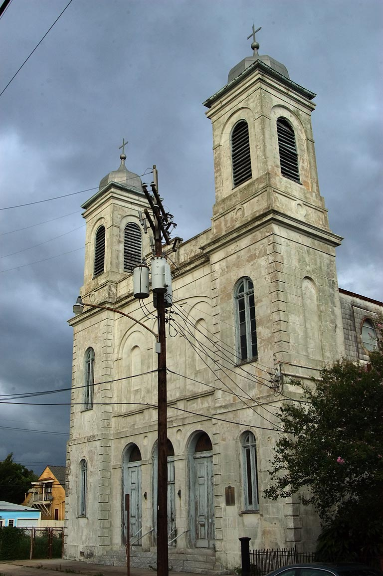 Holy Trinity Church (1853) at 721 St.Ferdinand St. in Bywater. New Orleans, Louisiana