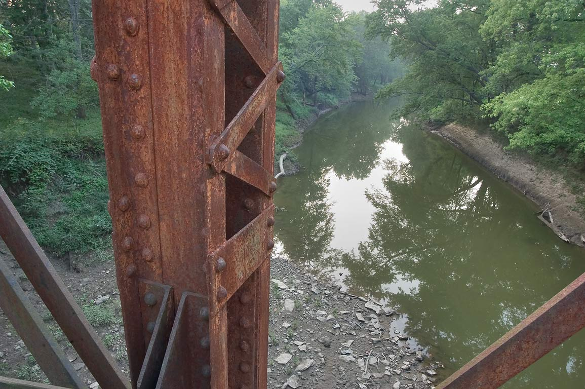 Old railroad bridge of MKT Parkway. Columbia, Missouri