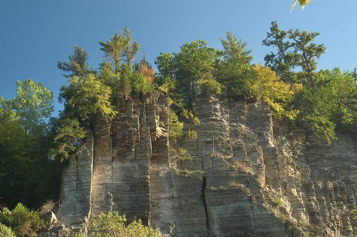 Cliffs of Taughannock Falls State Park near Ithaca. New York