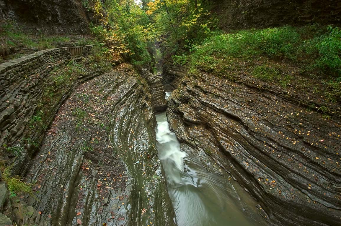 Narrow gorge in Watkins Glen State Park. New York