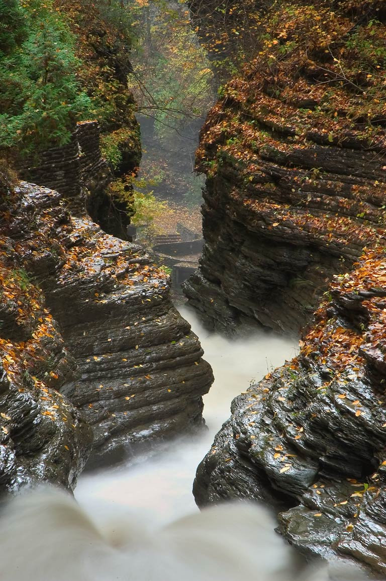 Whirlwind Gorge of Watkins Glen. New York