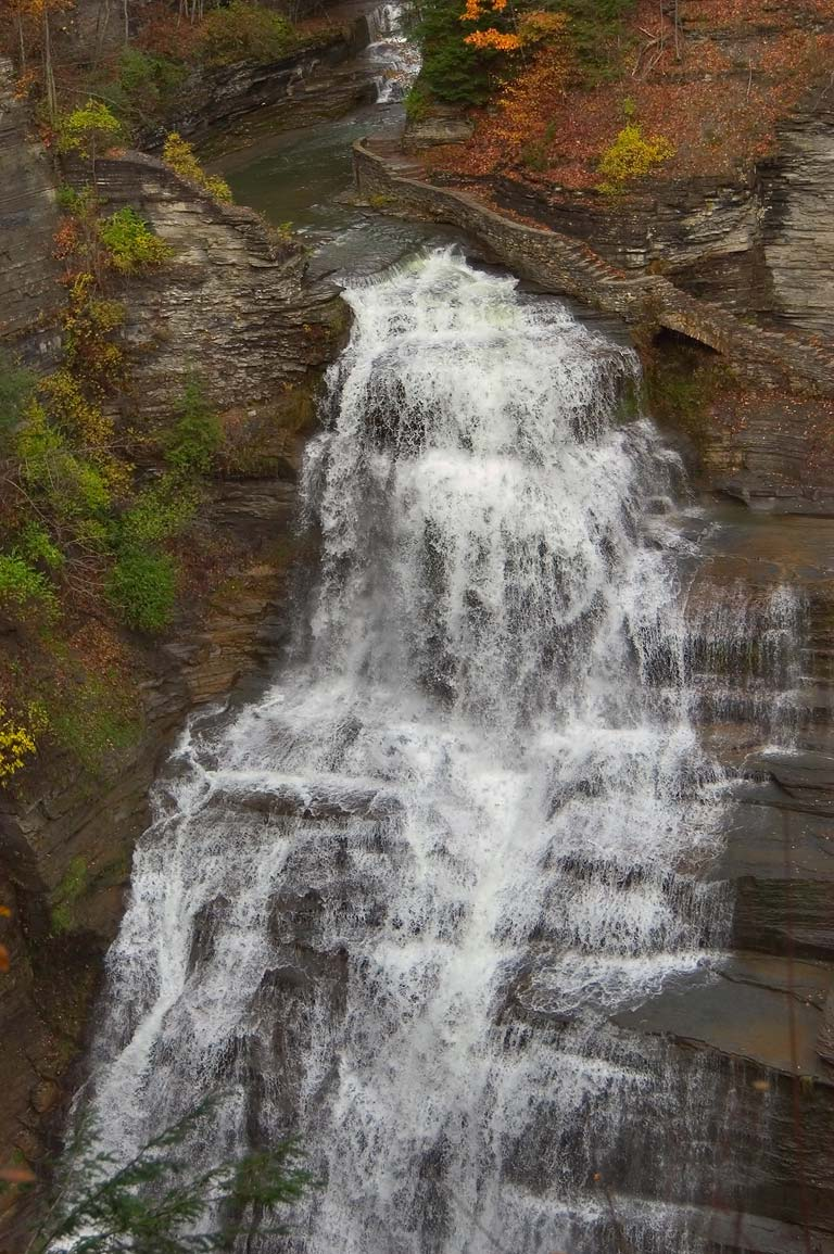 Lucifer Falls in Enfield Glen, Robert H. Treman State Park. Ithaca, New York