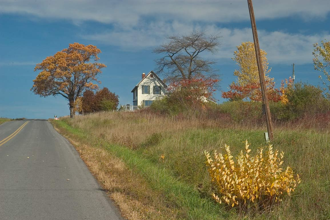 Satterly Hill Rd. north from Burdett, near Watkins Glen. New York