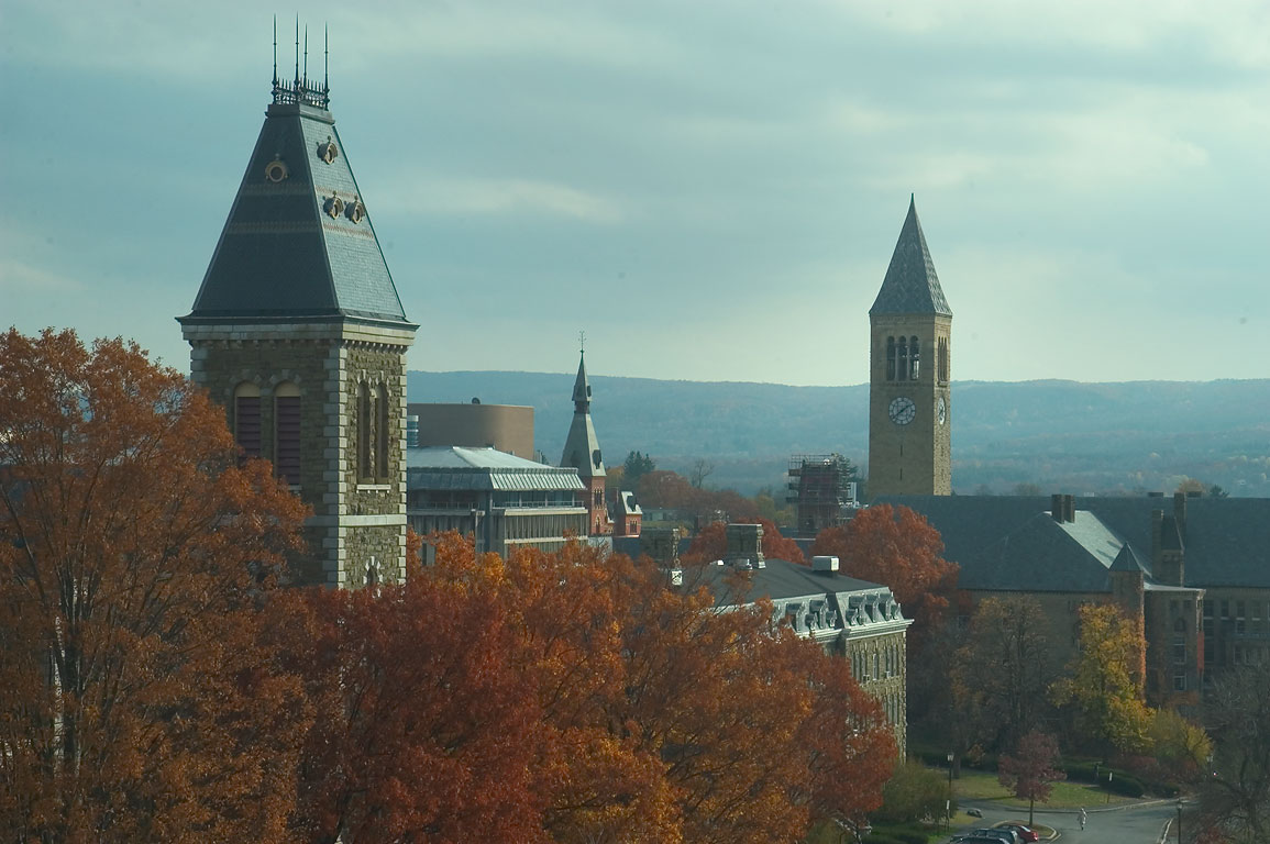 Central Ave. of Cornell University campus, view...Museum of Art. Ithaca, New York