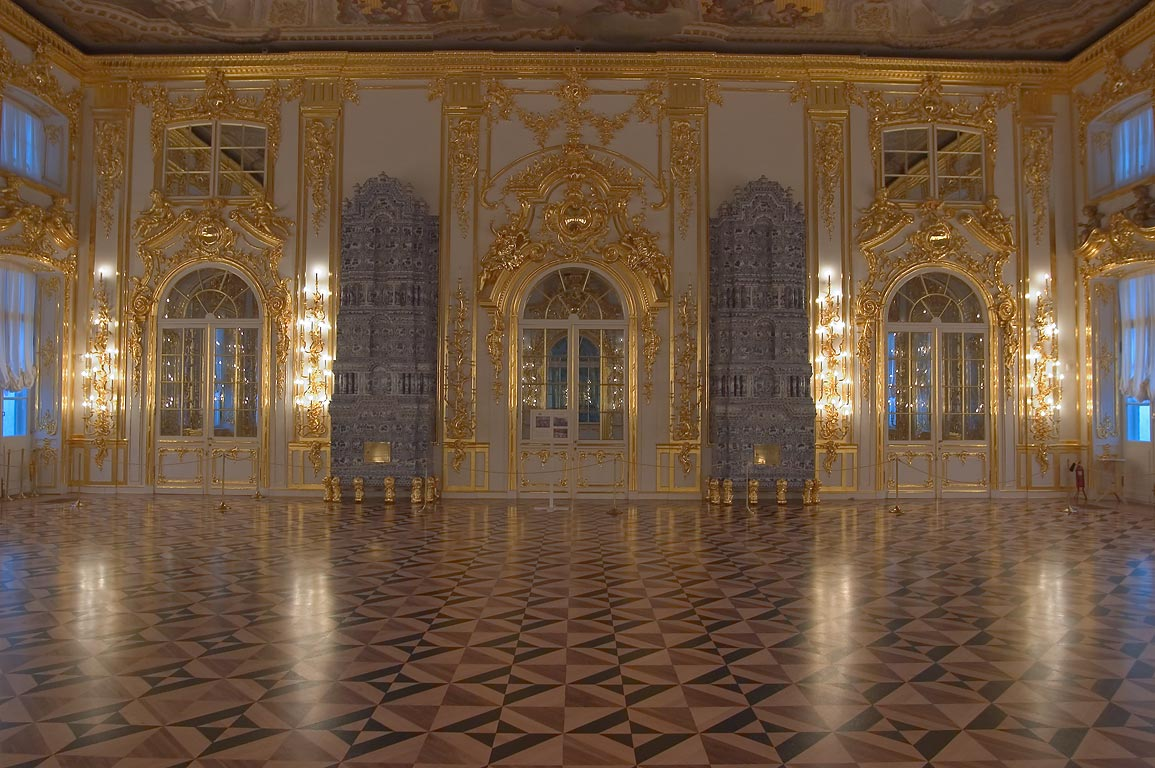 Great Hall of Catherine Palace in Pushkin, former...Selo, suburb of St.Petersburg. Russia