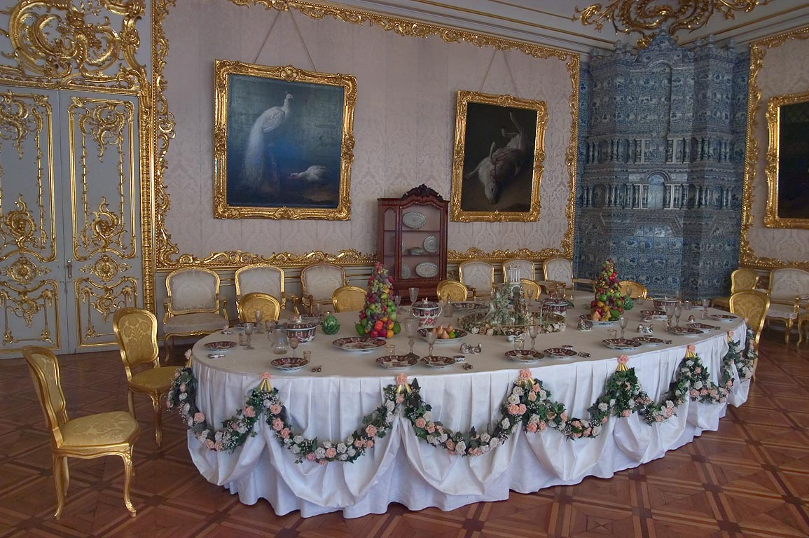 Catherine Palace, Courtiers-In-Attendance Dining...Selo), suburb of St.Petersburg, Russia