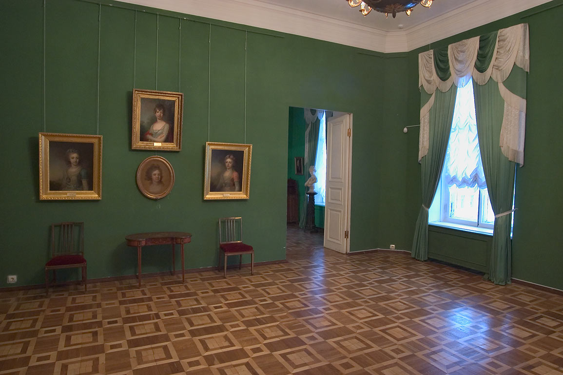 Portraits in Gatchina Palace near St.Petersburg. Russia