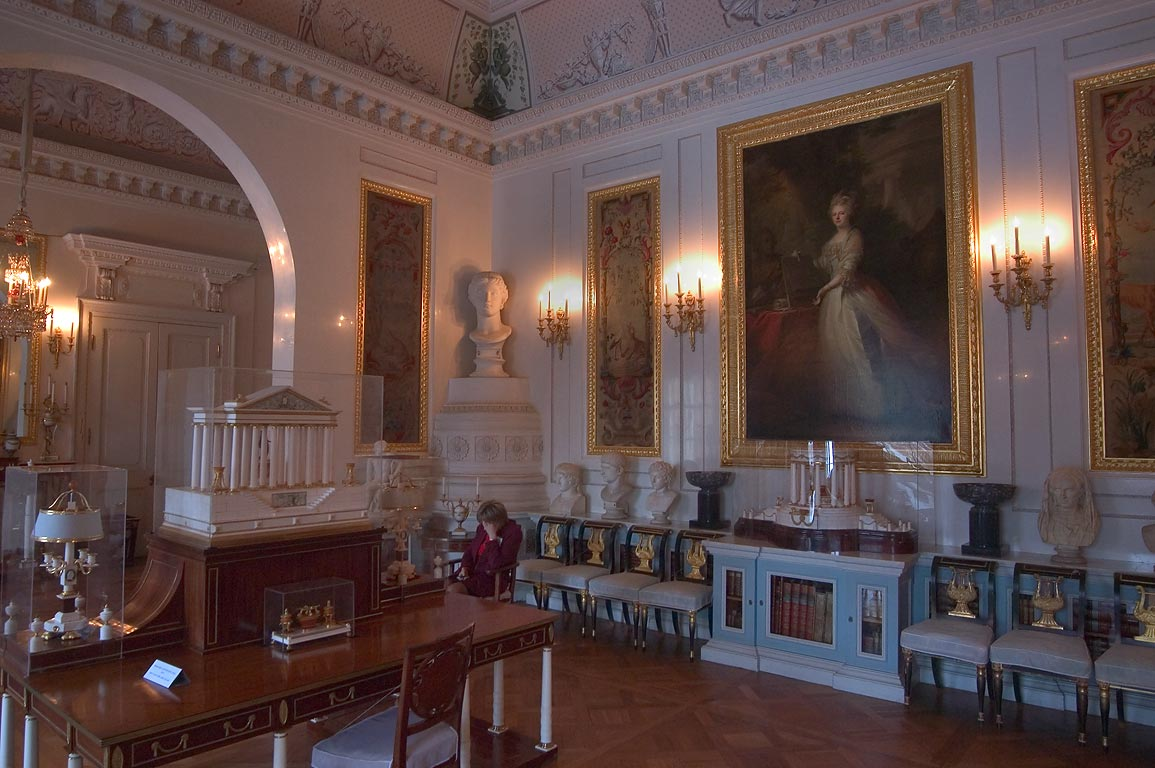 A room in Pavlovsky Palace. Pavlovsk, suburb of St.Petersburg, Russia